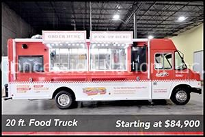 20 ft .Food Truck prices