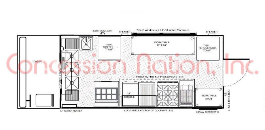 16-ft Food truck layouts
