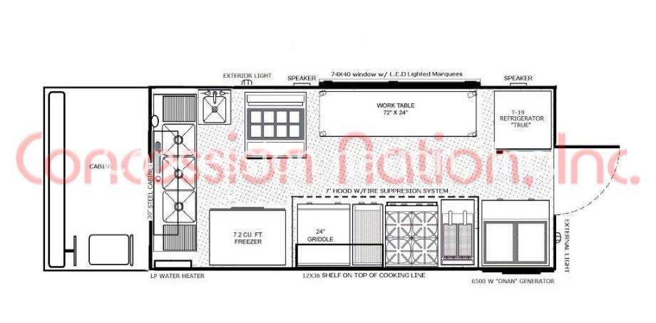 Food truck construction plans food truck building plans for Food truck layout