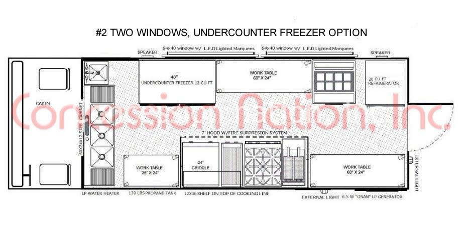 Food truck design layout catering truck designs for Food truck layout plans