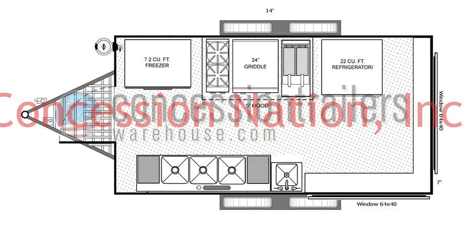 Floor plans concession trailers concession nation floor plans concession trailers 7x14001 malvernweather Gallery