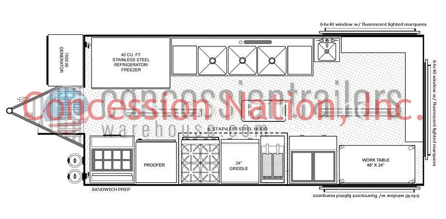 floor plans concession trailers concession nation rh concessionnation com Food Concession Trailers BBQ Concession Trailers