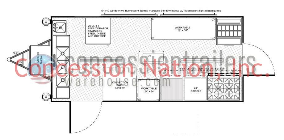 Plans for cabin concession autos post for Home design 8x16