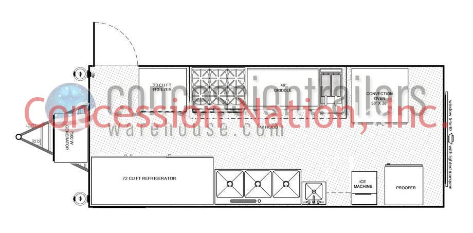 Concession trailer blueprints custom trailers for Food truck blueprints