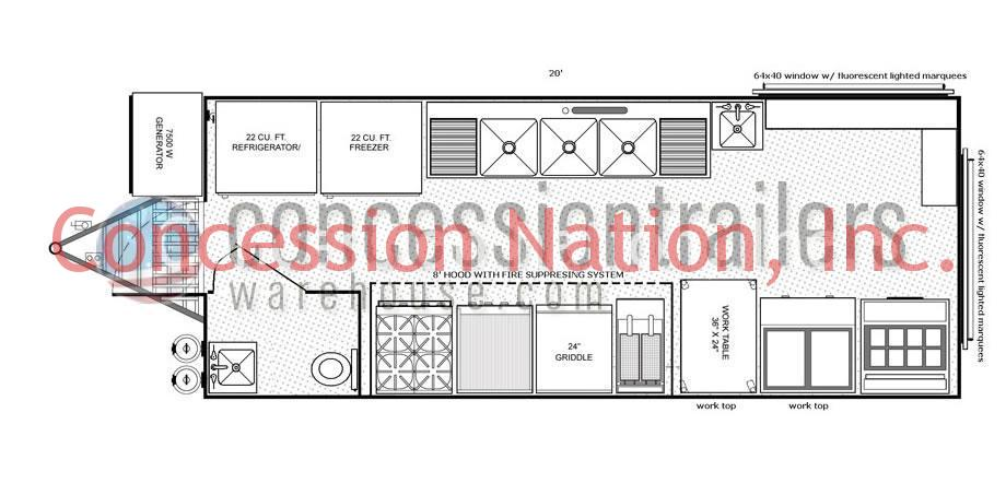 Advanced Concession Trailers Food Trailer Plans Concession Nation