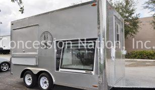 Custom Display for concession trailer