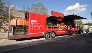 Brick Oven Pizza Trailers - Red Pizza Truck