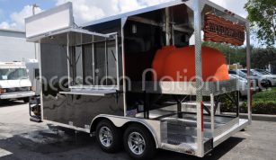 Brick oven pizza trailer_Black Forest Flammkuchen