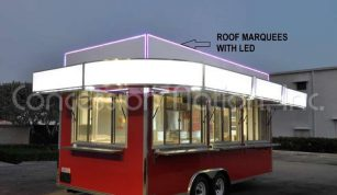 Roof Marquees to display menu - Marquees & Signs
