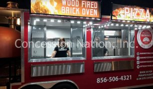 Brick oven pizza trailer_Mannino's
