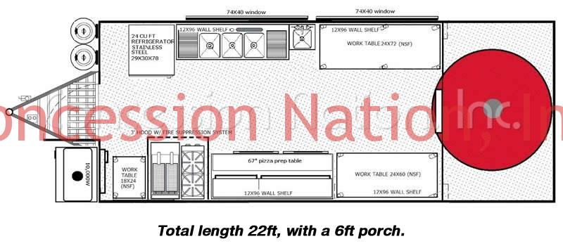 Floorplan brick oven pizza trailer_Starkey