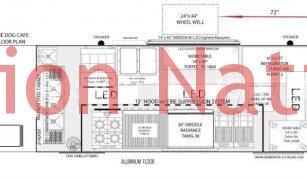 18' DUNE-DOG-CAFE food truck floor plan