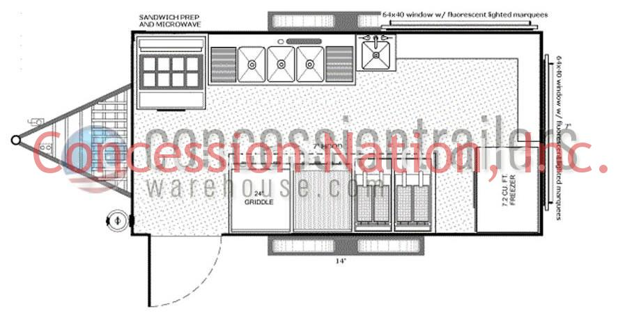 concession trailer floor plans concession trailer layout rh concessionnation com