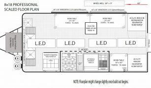 8x18 Professional Floorplan
