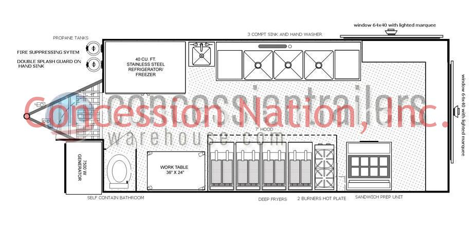 concession stand building plans catering trailer plans