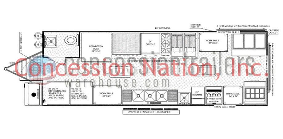 floor plans concession trailers concession nation drop deck trailer concession trailer schematics #10