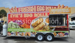 Evie's Egg Rolls Concession Trailer