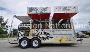 Black Bird Wood Fire Pizza Trailer