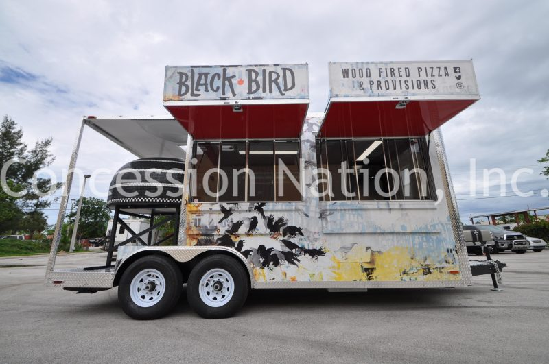 Black Bird Wood Fire Pizza Trailer