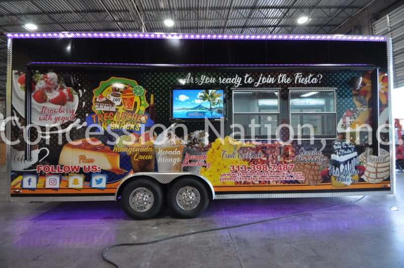Tres Leches N Snacks Concession Trailer