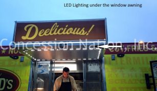Lighting under window awning