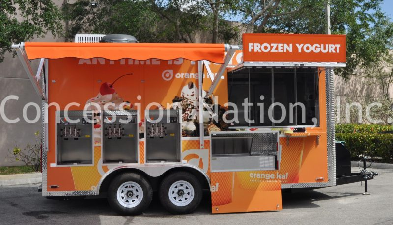 Orange Leaf Frozen Yogurt Trailer