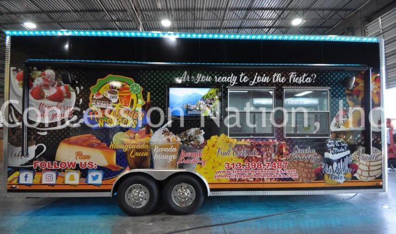 Tres Leches N Snack Concession Trailer