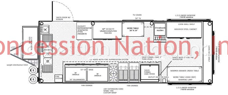 Mob Grill Food Trailer Floorplan