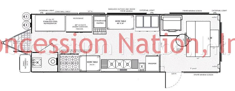 BBQ Trailers - BBQ Prime County & Catering floorplan