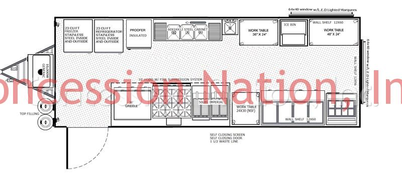 BBQ Trailers - Big D floorplan