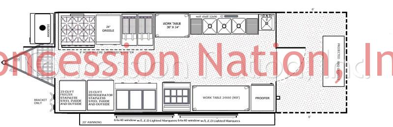 BBQ Trailers - University of Wisconsin-Madison floorplan