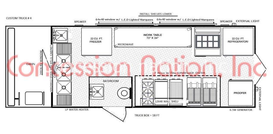 floor plan food truck design