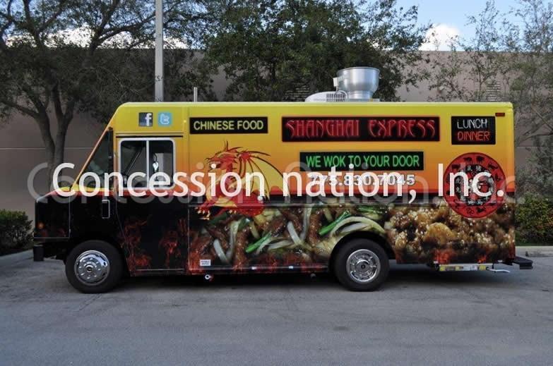 Asian Cuisine - Shanghai Express 16 ft Food Truck