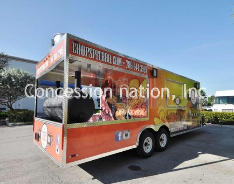 BBQ Concession Trailers For Sale | BBQ Trailer Manufacturers