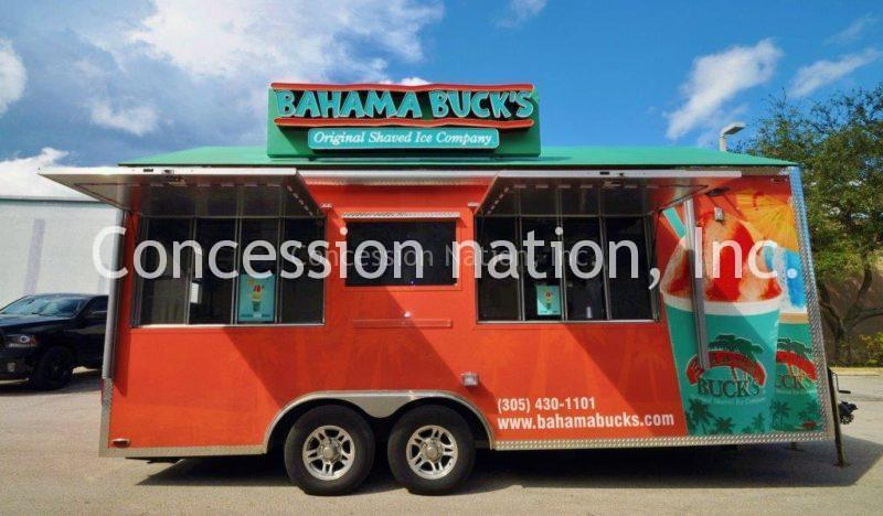 Bahama Buck's concession trailer_custom sign