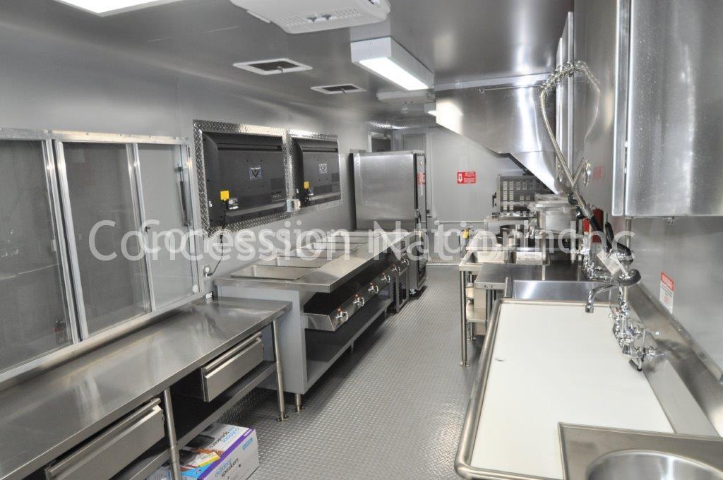 Custom Food Trailers >> Gooseneck-Trailer-40ft-4 - Custom Food Trucks   Concession Nation   Custom Food Trailers