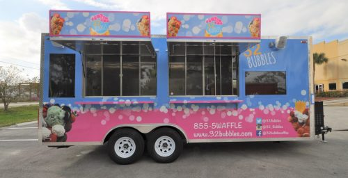 32 Bubbles ice cream trailer