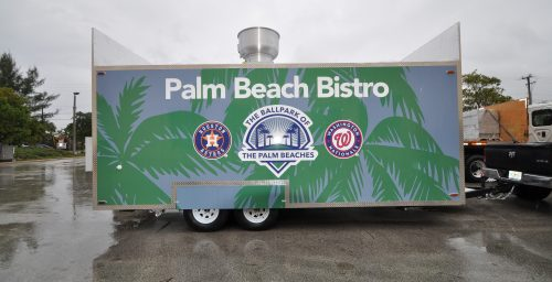 Customized Concession Trailer for the Washington Nationals and Houston Astros