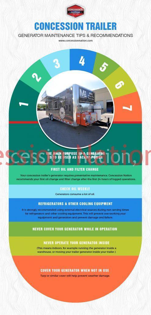 Concession Trailer Generator Maintenance Tips
