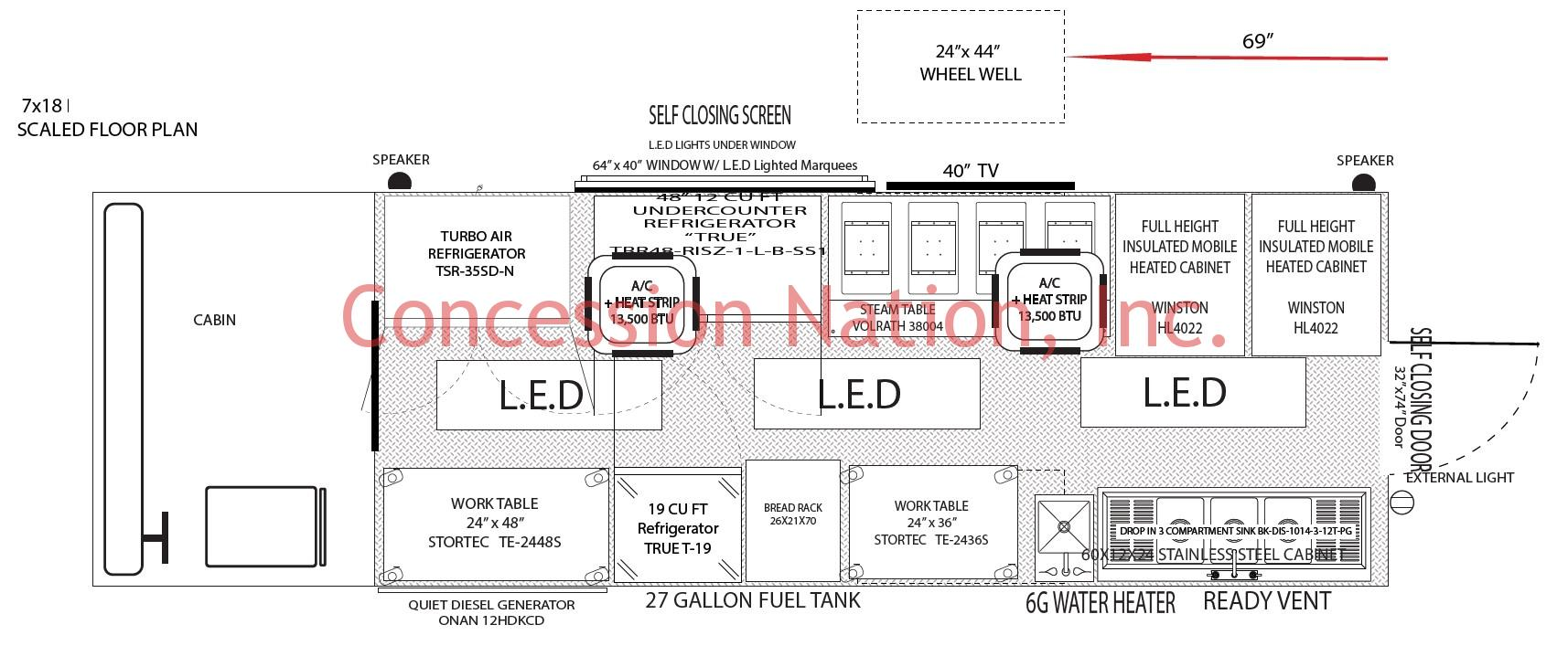 Go Bbq Mn 7x18 Floor Plan Food Trucks Concession Nation Food Trailers